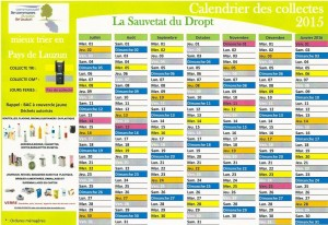 calendrier collectes 2