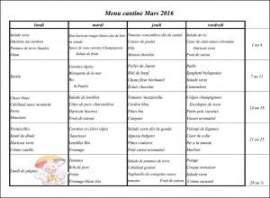 menu mars 2016