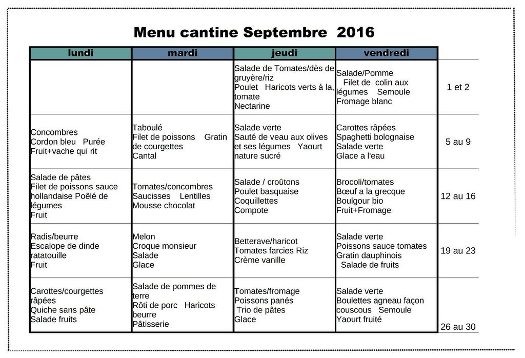 menu sept 2016