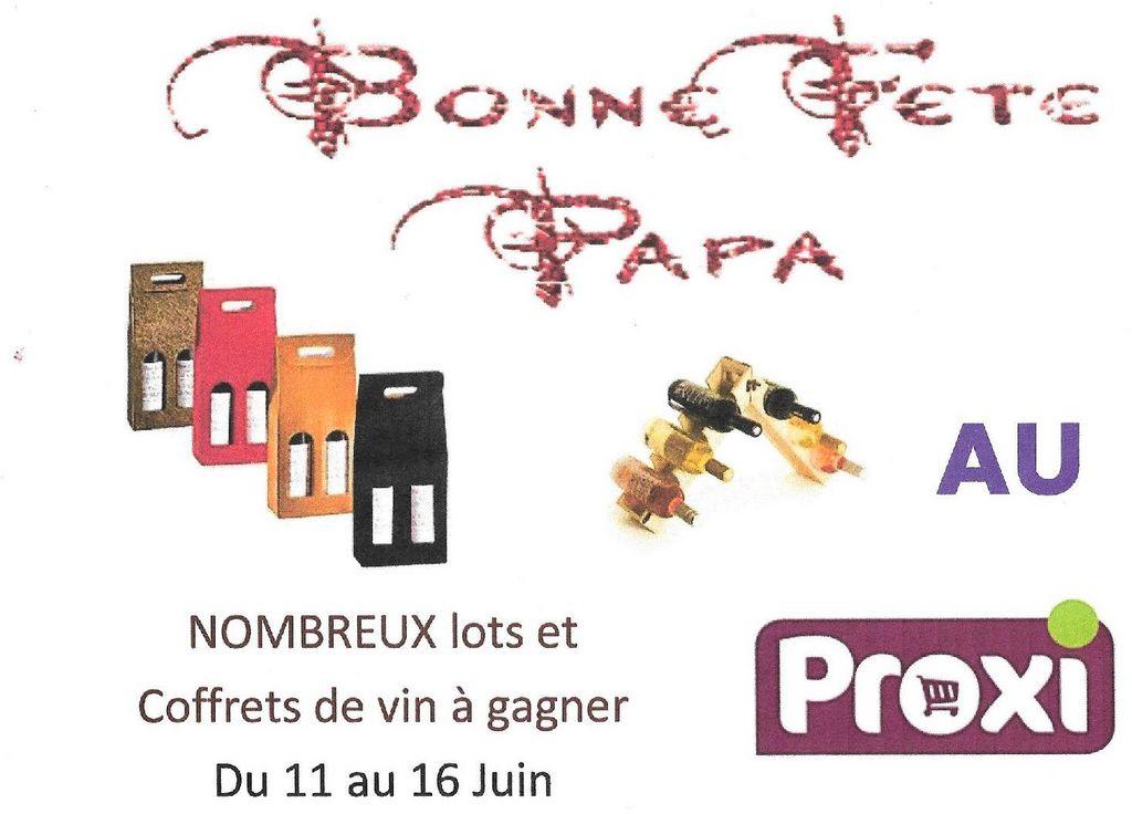 Christine et Sophie du PROXI P'tit Panier du Dropt vous proposent de gagner de nombreux lots dont des coffrets de vin à l'occasion de la Fête des Pères...